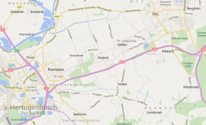 Geffen ligt tussen 's Hertogenbosch en Oss